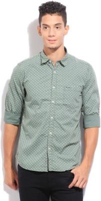 Pepe Jeans Men's Printed Casual Green Shirt