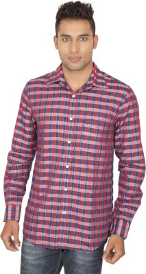 SmartCasuals Men's Checkered Casual Red, Blue Shirt