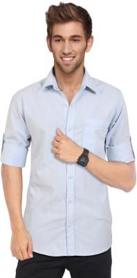 Blackburne Inc Men's Solid Casual Blue Shirt