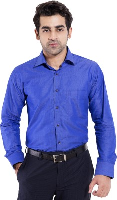 Mild Kleren Men's Solid Formal Blue Shirt