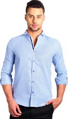 SOLEMIO Men's Checkered Casual Dark Blue Shirt