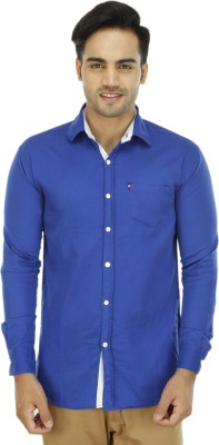 BLUE OCEAN Men's Solid Casual Blue, Blue Shirt