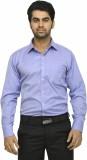 Richlook Men's Solid Casual Blue Shirt