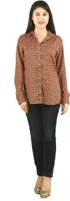 Lady Stark Women's Printed Casual Multicolor Shirt