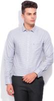Indigo Nation Street Formal Shirts (Men's) - Indigo Nation Street Men's Checkered Formal White, Blue, Orange Shirt