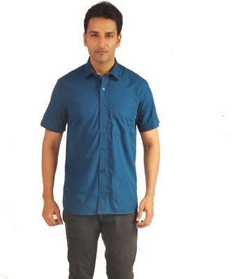 Sterling Men's Checkered Formal Blue Shirt