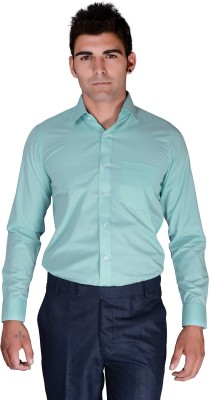 BlackLilly Men's Solid Casual Light Blue Shirt