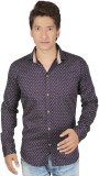 Red Touch Men's Printed Casual Purple Sh...
