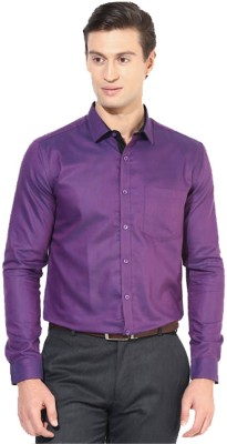 Rv Collection Men's Solid Festive Purple Shirt