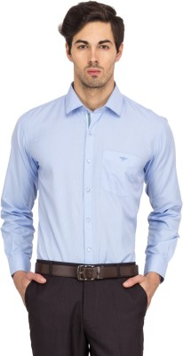 Logo Apparel Men,s Solid Formal Light Blue Shirt