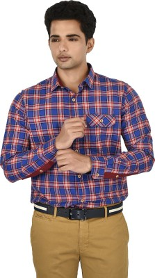 Hackensack Men's Checkered Casual Blue, Red Shirt