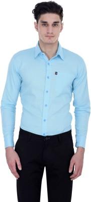 LONDON LOOKS Men's Solid Formal Light Blue Shirt