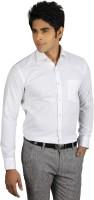 Nexq Formal Shirts (Men's) - Nexq Men's Solid Formal Linen White Shirt