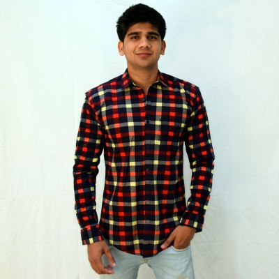 Broom Clothings Men's Checkered Casual Multicolor Shirt