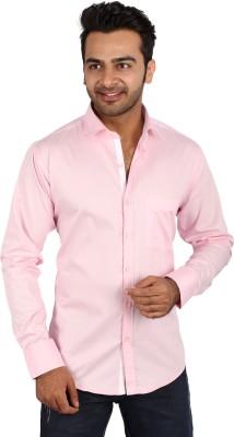 Regza Men's Solid Formal Pink Shirt