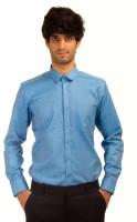 Akb Formal Shirts (Men's) - AKB Men's Solid Formal Linen Light Blue Shirt