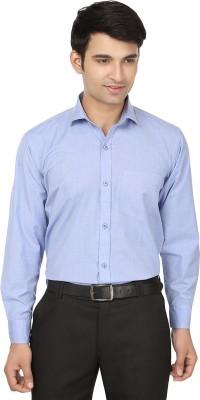 Forever19 Men's Solid Formal Light Blue Shirt