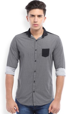 Skie Studio Men's Printed Casual Black Shirt