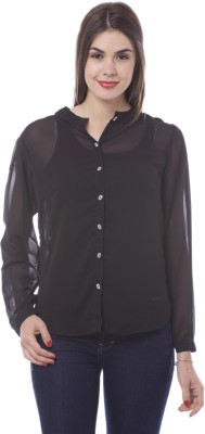 Being Fab Women's Solid Casual Black Shirt