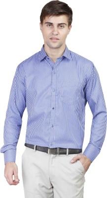 Alive Sport Men's Striped Formal Blue Shirt