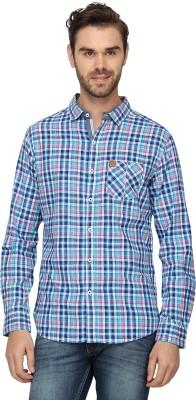 Etranger Men,s Checkered Casual Blue, Pink Shirt