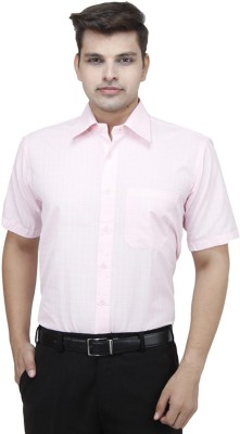 Try Me Men's Solid Formal Pink Shirt
