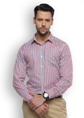 Brooklyn Blues Men's Checkered Casual Red Shirt