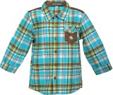 Lil Poppets Boys Checkered Casual Blue, ...