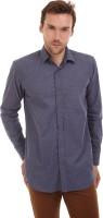 Bendiesel Formal Shirts (Men's) - Bendiesel Men's Solid Formal Dark Blue Shirt