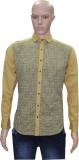 Menz Fashion Men's Printed Casual Yellow...