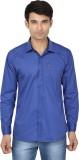 Fashion Flag Men's Solid Casual Blue Shi...