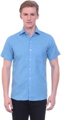 Tabser Men's Solid Formal Blue Shirt
