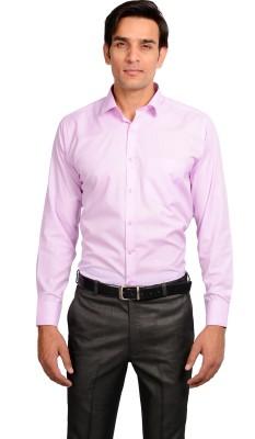 Mild Kleren Men's Solid Formal Pink Shirt