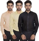 Deeksha Men's Solid Casual Black Shirt (...
