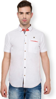 The Indian Garage Co. Men,s Solid Casual White Shirt