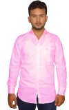 Naughty Bear Men's Solid Casual Pink Shi...