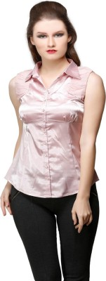 Desert Rose Women's Solid Party Pink Shirt
