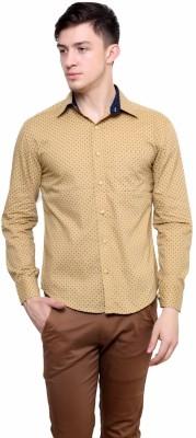Shreebalajitraders Men,s Printed Casual Beige Shirt