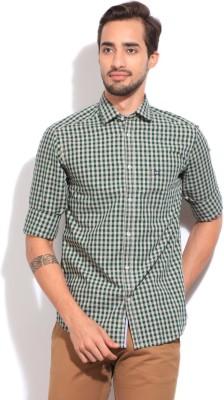 Arrow Sport Men's Checkered Casual Grey, Green Shirt