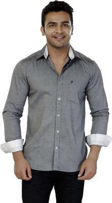 Jazzup Men's Solid Casual Grey Shirt