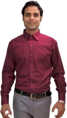 AVS Polo Men's Solid Casual Maroon Shirt