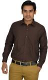 Atmosphere Men's Solid Formal Brown Shir...