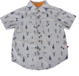 Nino Bambino Boys Printed Casual Grey Sh...