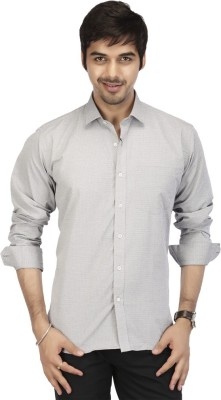 Acropolis Men's Solid Formal Grey Shirt