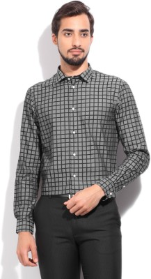 Arrow New York Men's Checkered Casual Black, Grey Shirt