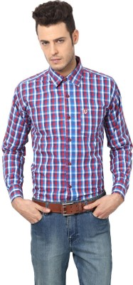 Saffire Men's Checkered Formal, Casual Red Shirt