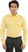Desar Rana Formal Shirts (Men's) - Desar Rana Men's Striped Formal Yellow Shirt