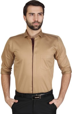 Redcountry Men's Solid Party Maroon Shirt