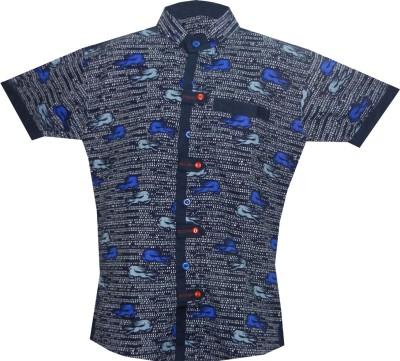 JBN Creation Boy's Graphic Print Casual Blue, Blue Shirt