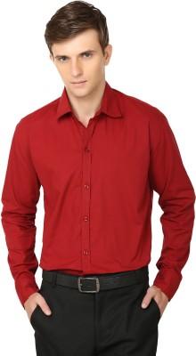 Ben Carter Men's Solid Formal Red Shirt